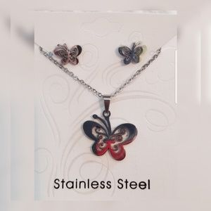Jewelry - Butterfly🦋Stainless Steel Jewelry Set
